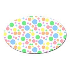 Pastel Bubbles Magnet (oval)