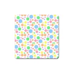 Pastel Bubbles Magnet (Square)