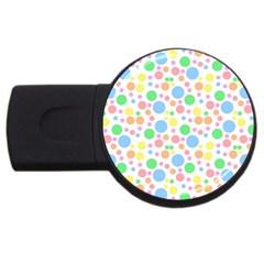 Pastel Bubbles 2gb Usb Flash Drive (round)