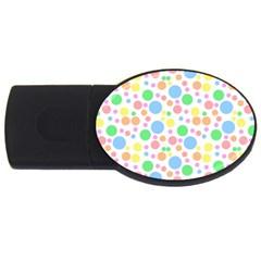 Pastel Bubbles 2GB USB Flash Drive (Oval)