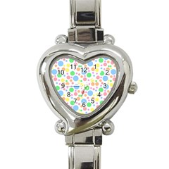 Pastel Bubbles Heart Italian Charm Watch