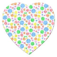 Pastel Bubbles Jigsaw Puzzle (Heart)