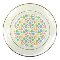 Pastel Bubbles Porcelain Display Plate