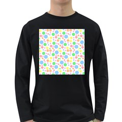 Pastel Bubbles Men s Long Sleeve T-shirt (Dark Colored)