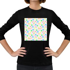 Pastel Bubbles Women s Long Sleeve T-shirt (Dark Colored)