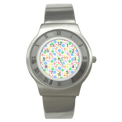 Pastel Bubbles Stainless Steel Watch (Slim)