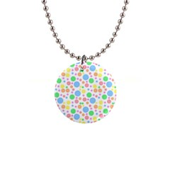 Pastel Bubbles Button Necklace