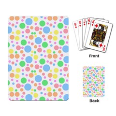 Pastel Bubbles Playing Cards Single Design