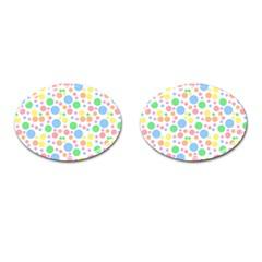 Pastel Bubbles Cufflinks (oval)