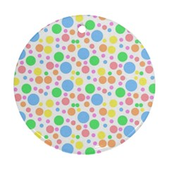 Pastel Bubbles Round Ornament (Two Sides)
