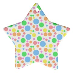 Pastel Bubbles Star Ornament (two Sides)