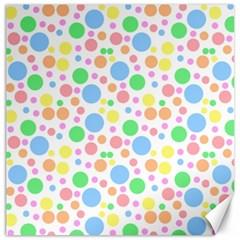 Pastel Bubbles Canvas 12  x 12  (Unframed)