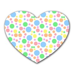 Pastel Bubbles Mouse Pad (Heart)