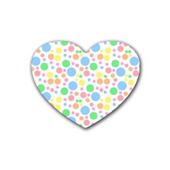 Pastel Bubbles Drink Coasters 4 Pack (Heart)