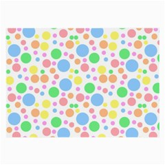 Pastel Bubbles Glasses Cloth (Large, Two Sided)