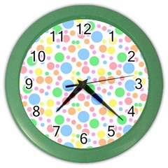 Pastel Bubbles Wall Clock (Color)