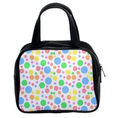 Pastel Bubbles Classic Handbag (Two Sides)