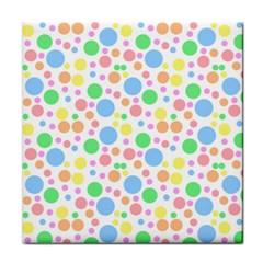 Pastel Bubbles Face Towel