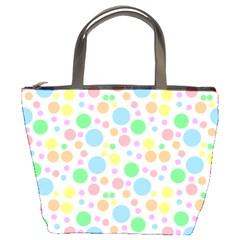 Pastel Bubbles Bucket Handbag