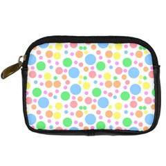 Pastel Bubbles Digital Camera Leather Case