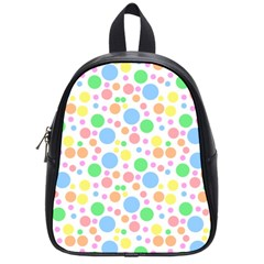 Pastel Bubbles School Bag (Small)