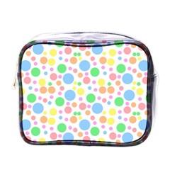 Pastel Bubbles Mini Travel Toiletry Bag (One Side)