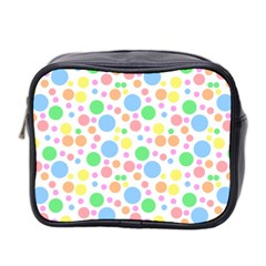 Pastel Bubbles Mini Travel Toiletry Bag (Two Sides)