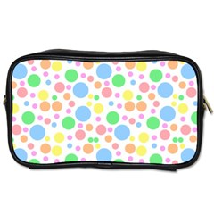 Pastel Bubbles Travel Toiletry Bag (Two Sides)