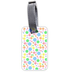 Pastel Bubbles Luggage Tag (two Sides)