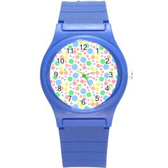 Pastel Bubbles Plastic Sport Watch (Small)