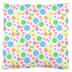 Pastel Bubbles Large Cushion Case (Single Sided)