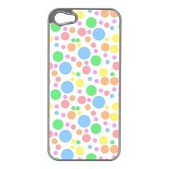 Pastel Bubbles Apple iPhone 5 Case (Silver)
