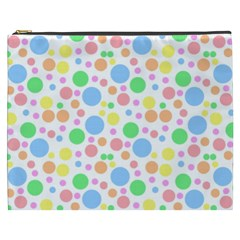 Pastel Bubbles Cosmetic Bag (XXXL)