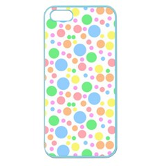 Pastel Bubbles Apple Seamless Iphone 5 Case (color)