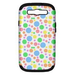 Pastel Bubbles Samsung Galaxy S III Hardshell Case (PC+Silicone)