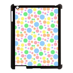 Pastel Bubbles Apple iPad 3/4 Case (Black)