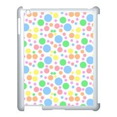Pastel Bubbles Apple iPad 3/4 Case (White)