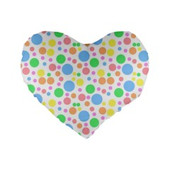 Pastel Bubbles 16  Premium Heart Shape Cushion