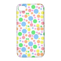 Pastel Bubbles Apple Iphone 4/4s Hardshell Case With Stand