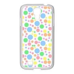 Pastel Bubbles Samsung GALAXY S4 I9500/ I9505 Case (White)