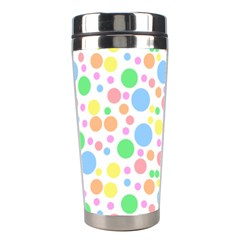 Pastel Bubbles Stainless Steel Travel Tumbler