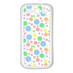 Pastel Bubbles Samsung Galaxy S3 Back Case (White)
