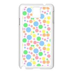 Pastel Bubbles Samsung Galaxy Note 3 N9005 Case (White)