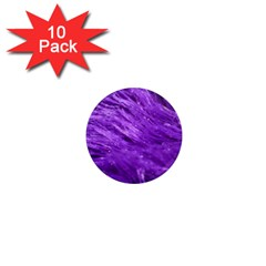 Purple Tresses 1  Mini Button Magnet (10 pack)