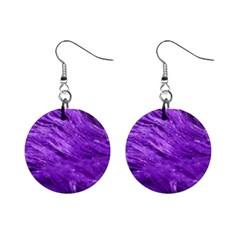 Purple Tresses Mini Button Earrings