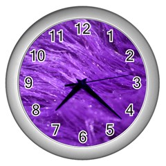 Purple Tresses Wall Clock (Silver)