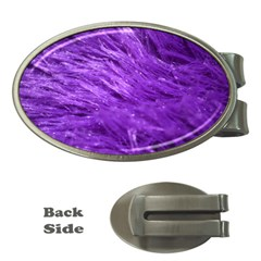 Purple Tresses Money Clip (Oval)