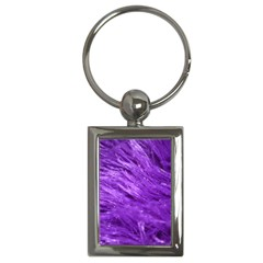 Purple Tresses Key Chain (Rectangle)