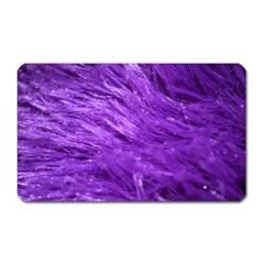 Purple Tresses Magnet (rectangular)