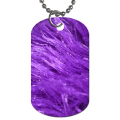 Purple Tresses Dog Tag (One Sided)